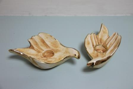 candelstick dove shape 14.5x7.5x5cm