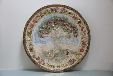Tree of life round plate