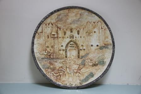 old jerusalem gate outside view  43cm